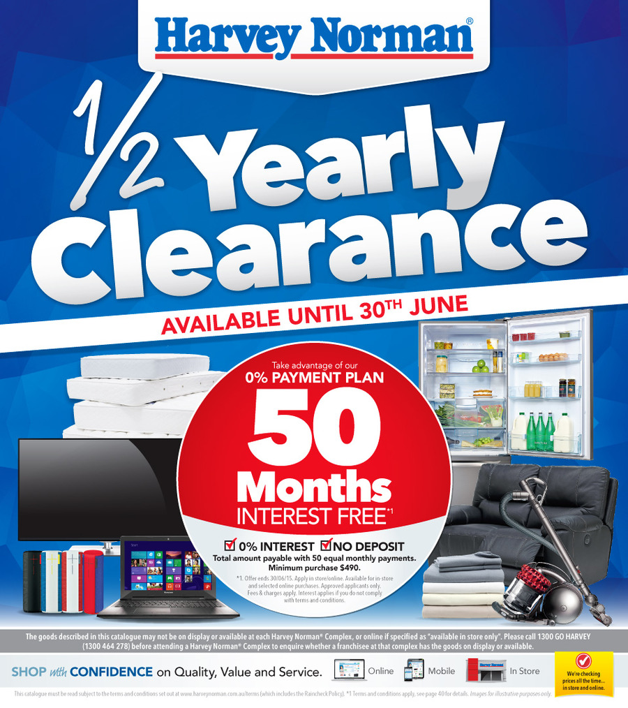 harvey norman catalogue half price clearance 15 jun 2015