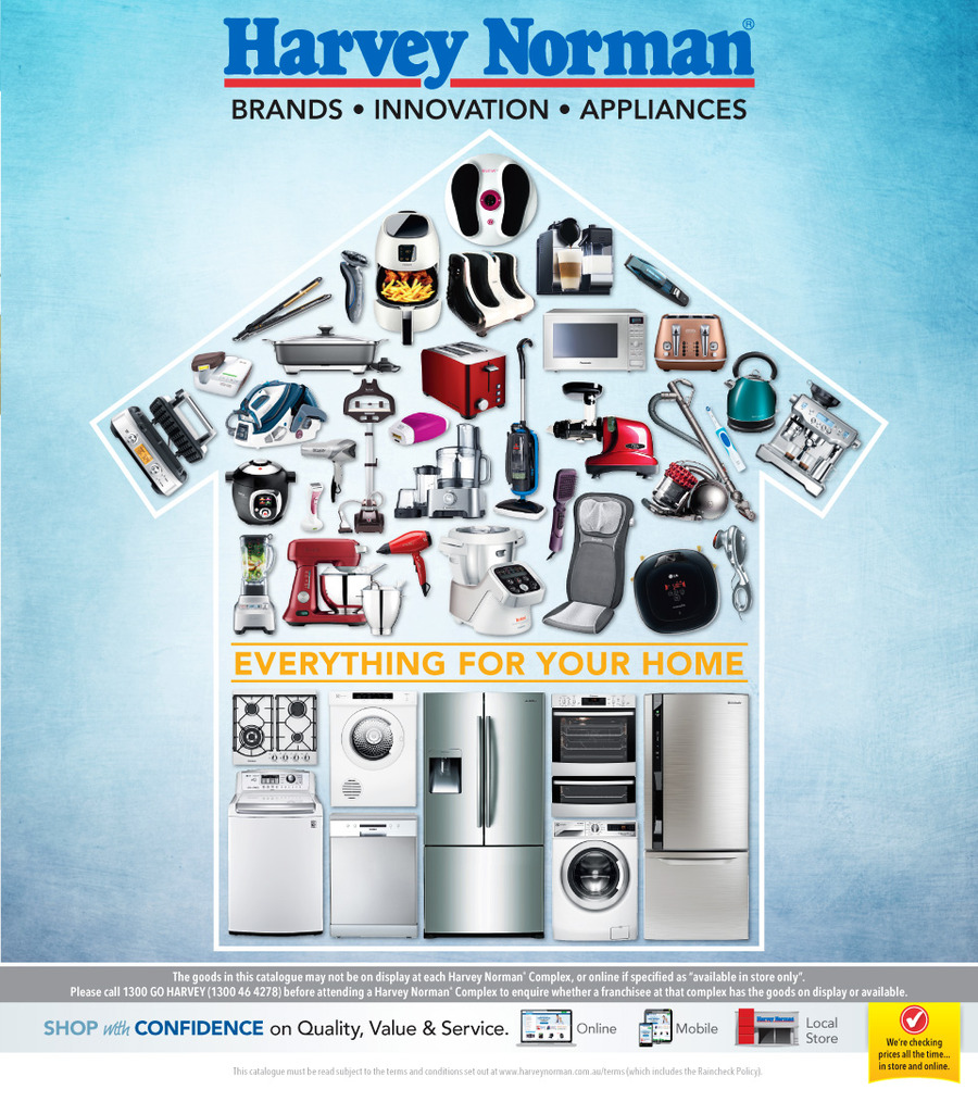 harvey norman catalogue home appliances february 2015
