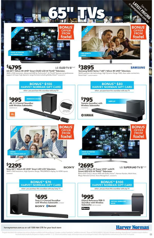 harvey norman catalogue indoor entertainment oct 2018