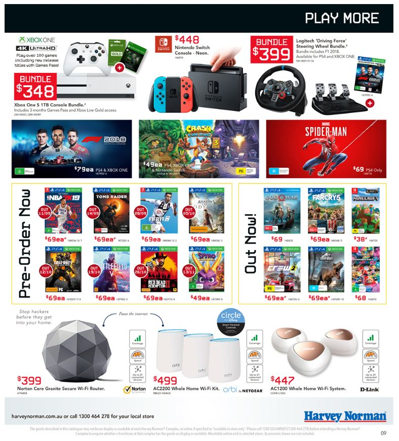 harvey norman catalogue laptops september 2018
