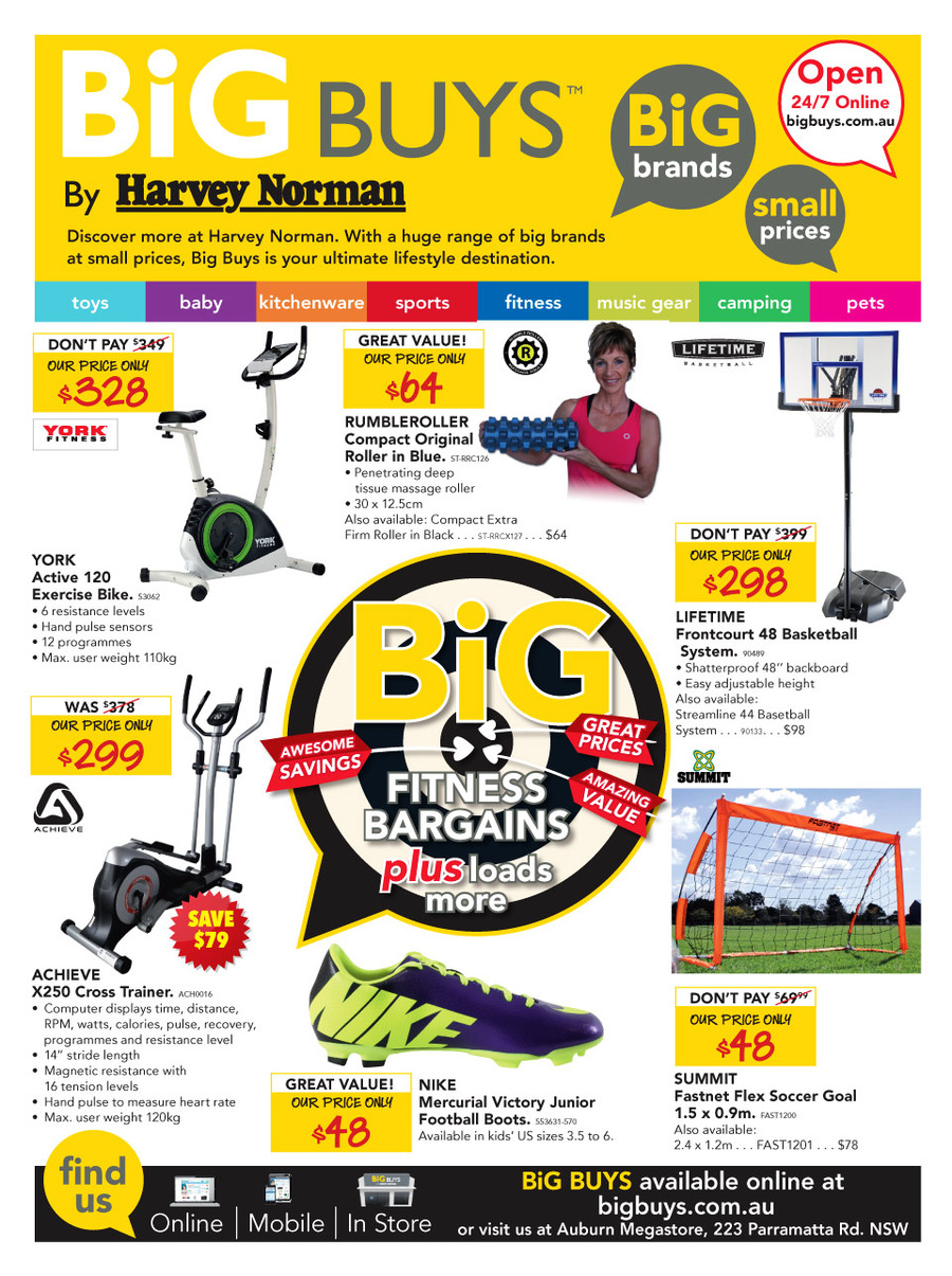 harvey norman catalogue online fitness sports products. Black Bedroom Furniture Sets. Home Design Ideas