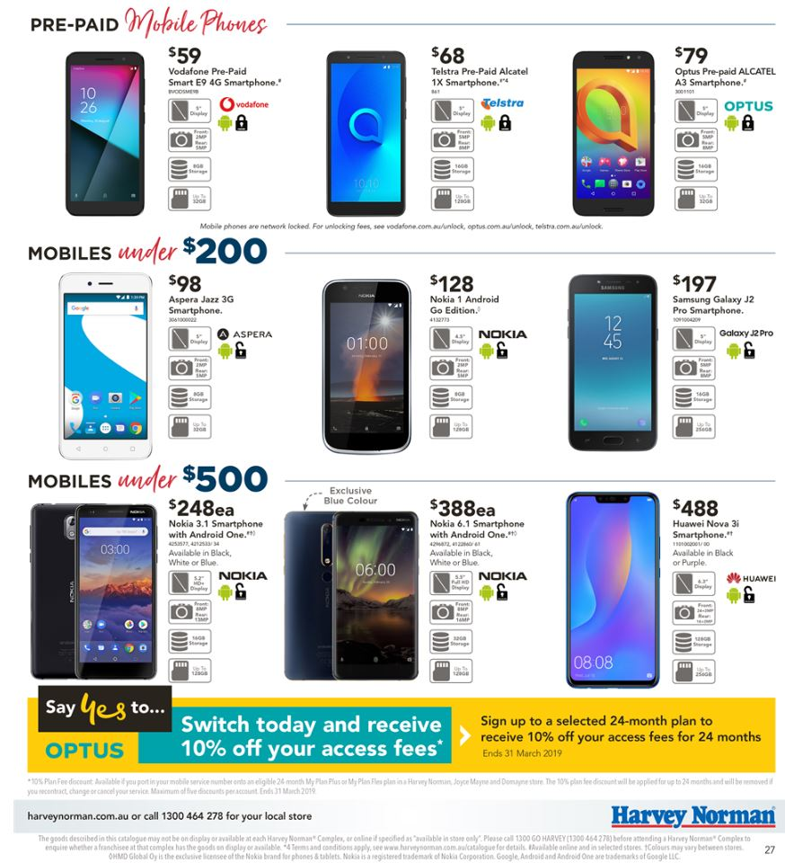 harvey norman catalogue pcs february 2019