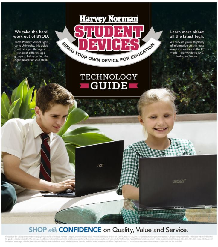 harvey norman catalogue students january 2018