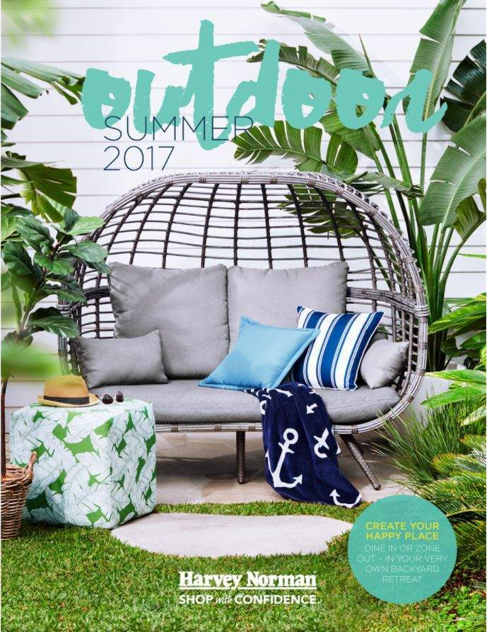 harvey norman catalogue summer outdoor october 2017