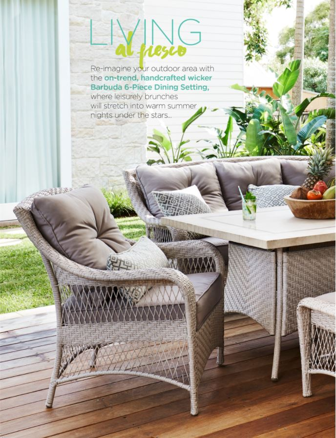 Harvey norman catalogue outdoor furniture summer 2017 page 2 for Outdoor furniture harvey norman