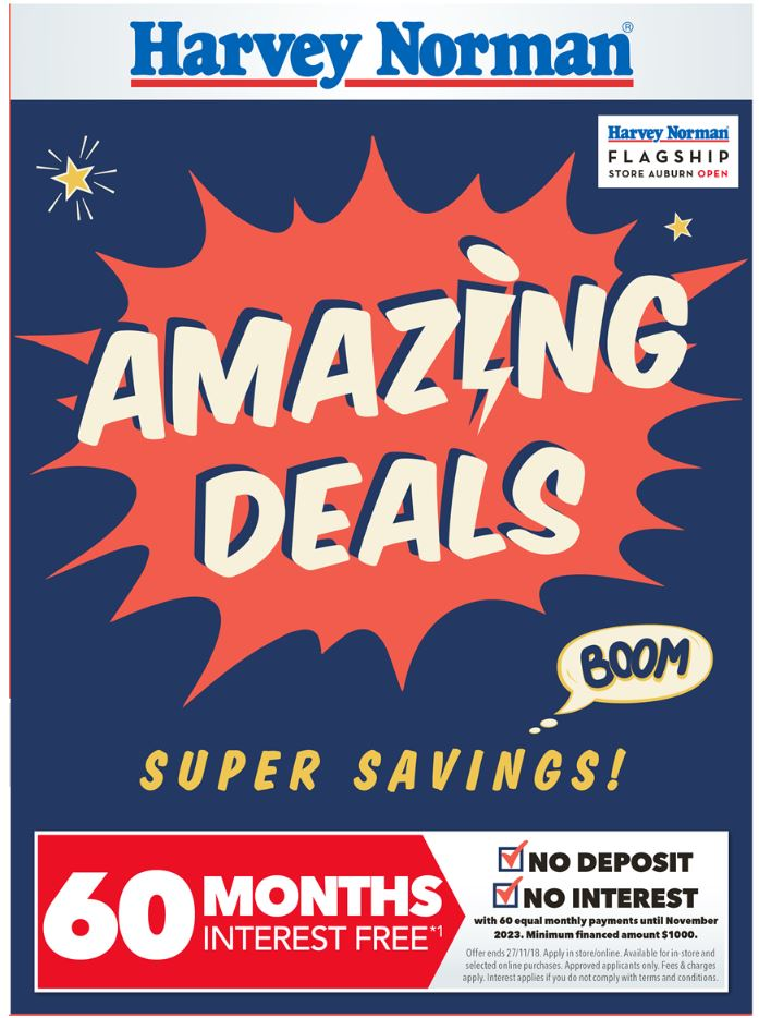 harvey norman catalogue super savings nov 2018