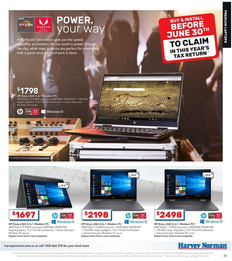 harvey norman catalogue tax time jun 2019