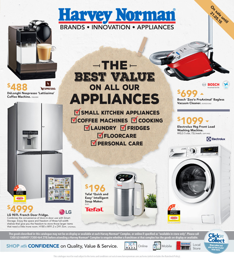 harvey norman home appliances 16 may 2015