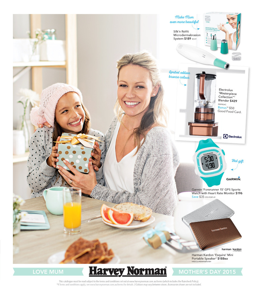 harvey norman mothers day gifts catalogue 2015