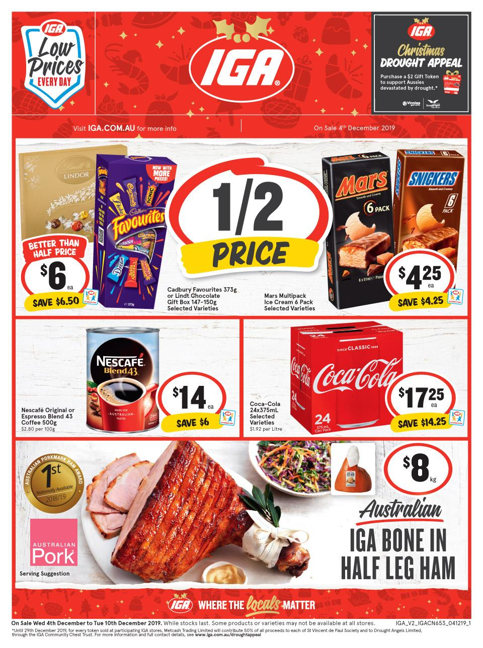 IGA Catalogue Low Prices Every day 4 - 10 Dec 2019