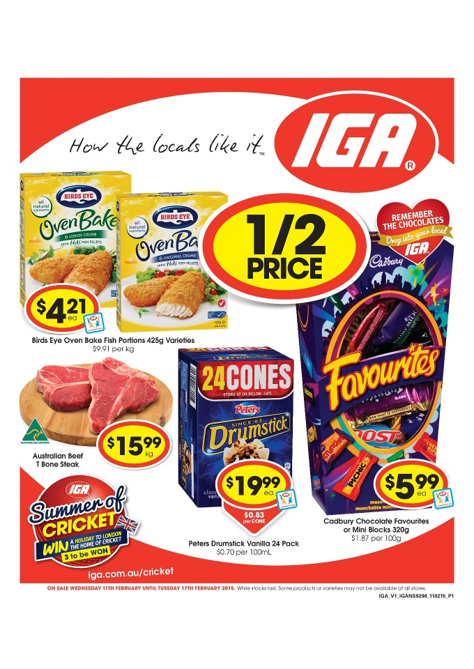iga catalogue february grocery discounts 2015