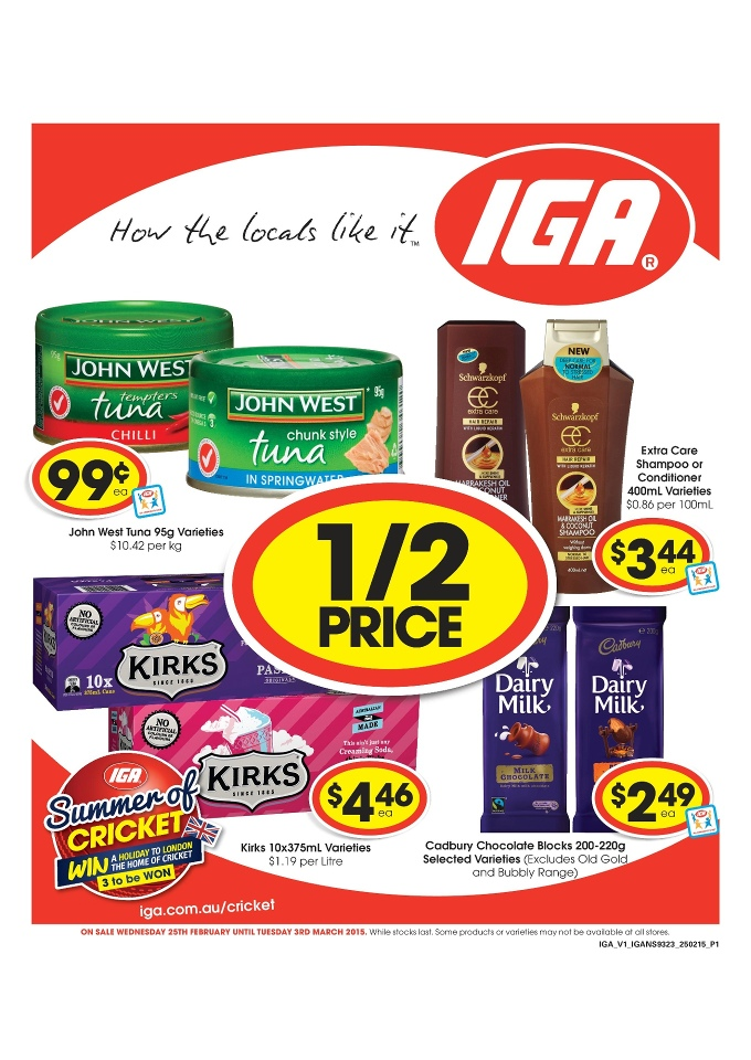 iga catalogue online food february 2015