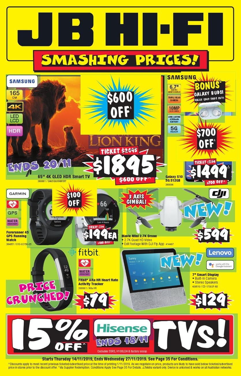 jb hi fi catalogue november 2019