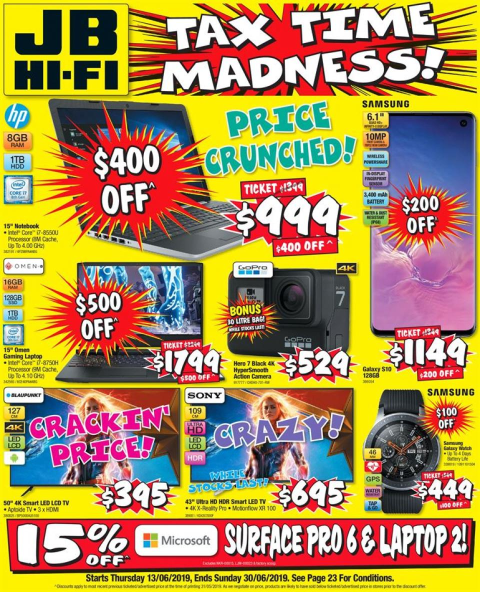 jb hi fi catalogue tax time 13 30 jun 2019