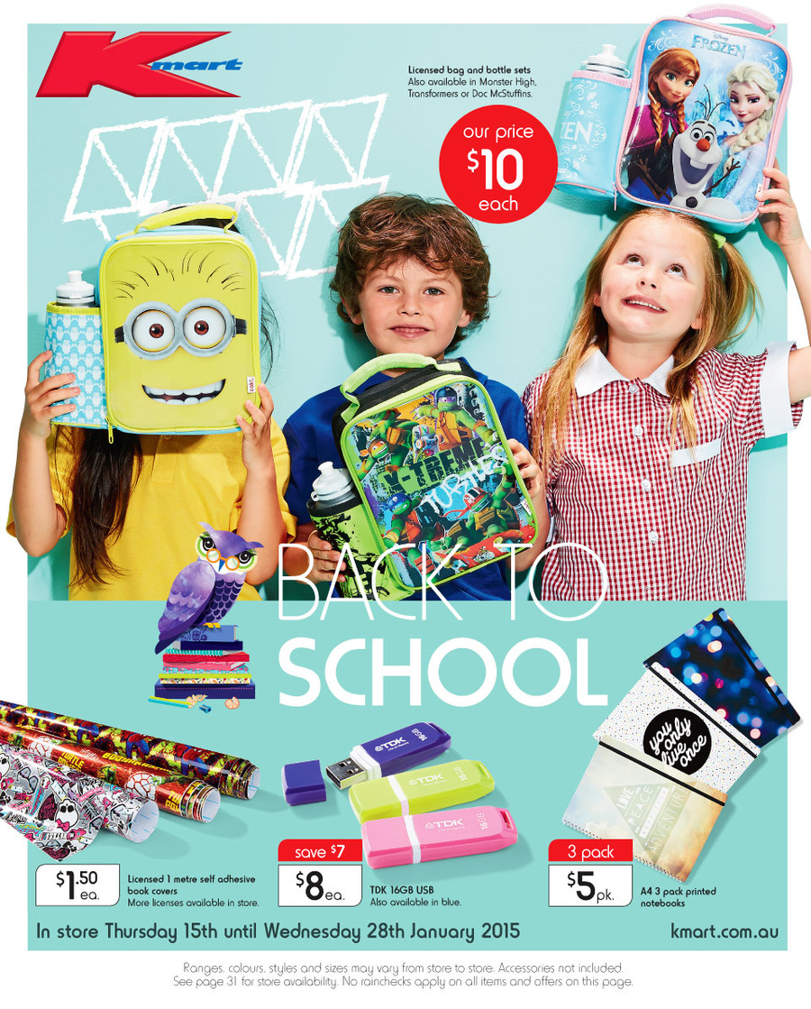 kmart back to school catalogue january 2015. Black Bedroom Furniture Sets. Home Design Ideas