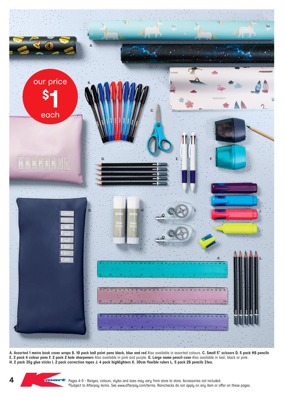 kmart catalogue back to school 10 jan 2019