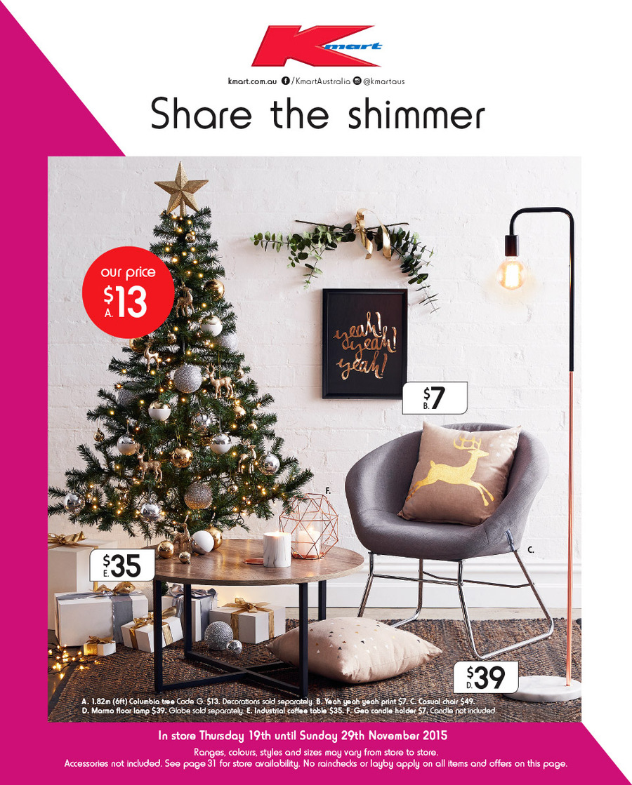 Kmart Catalogue Christmas Decoration 19 Nov 2015