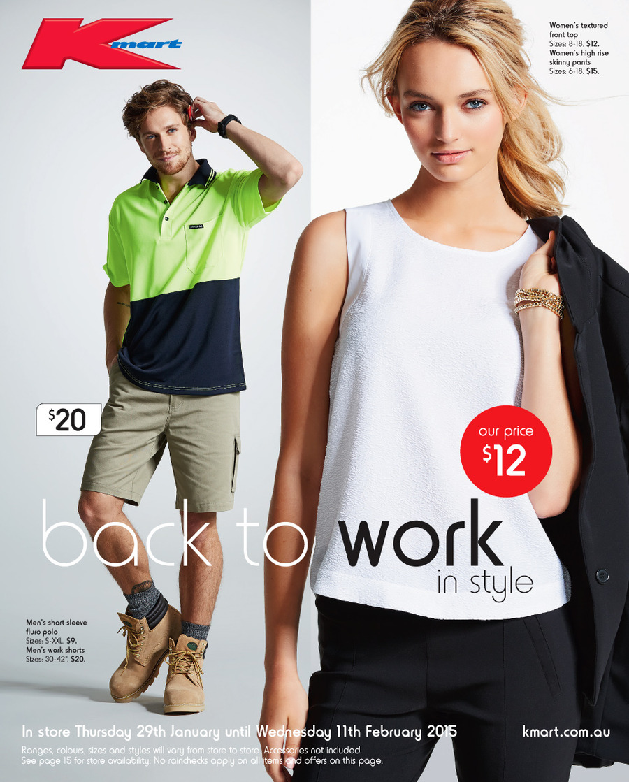 6fb78471c Kmart Catalogue Clothing January Prices