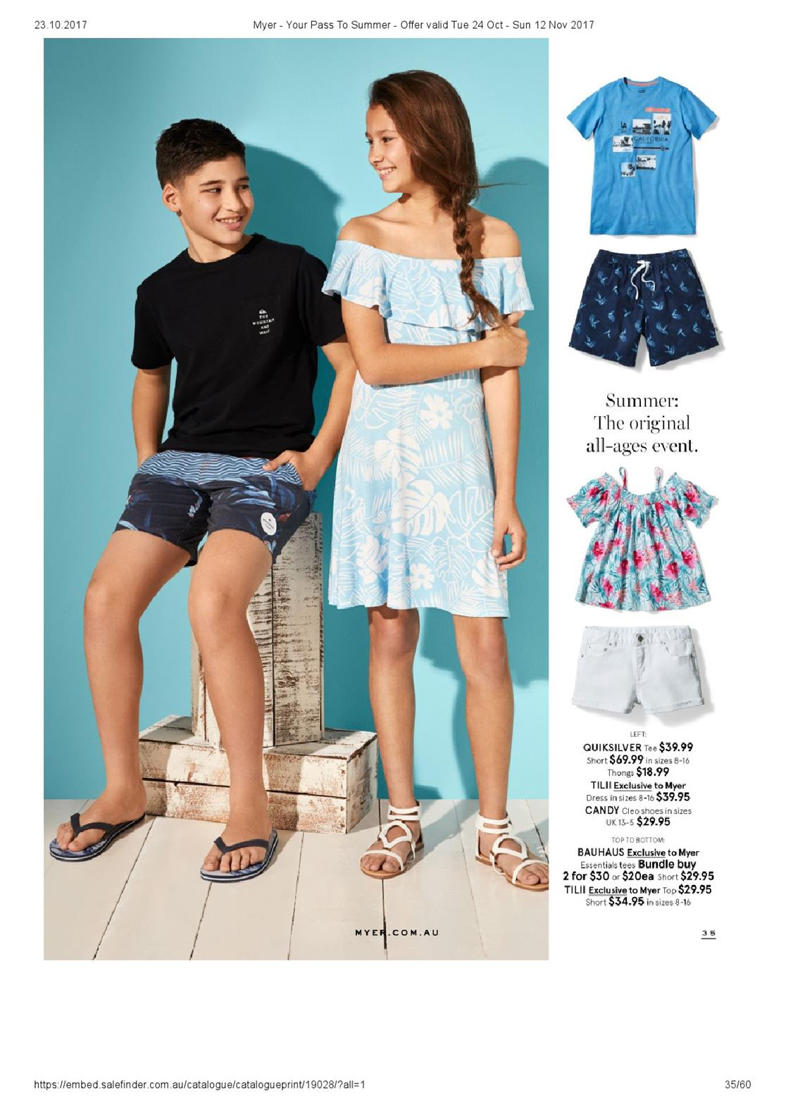 myer catalogue 24 october 2017