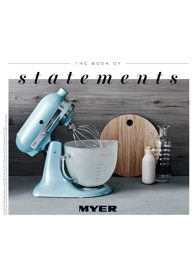 Myer February Catalogue 2015 Kitchen Appliances Classic Fashion