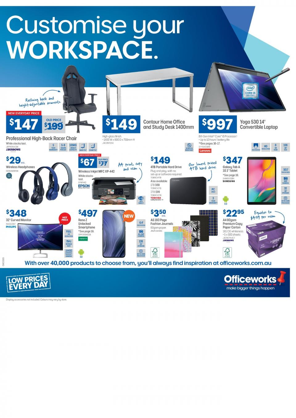 officeworks catalogue august 2019