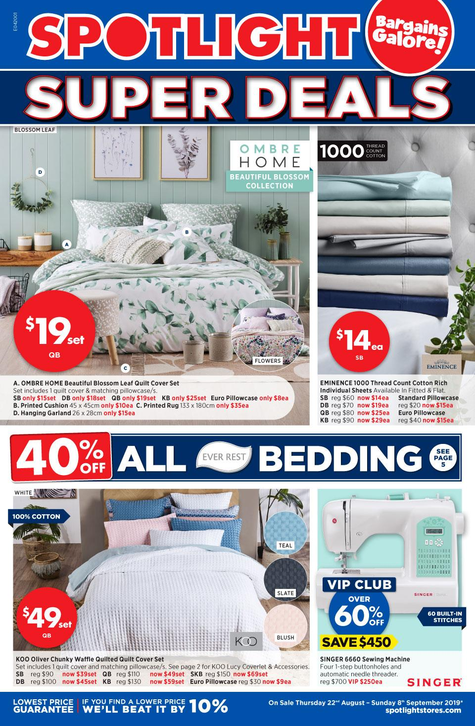 spotlight catalogue super deals 22 aug 8 sep 2019