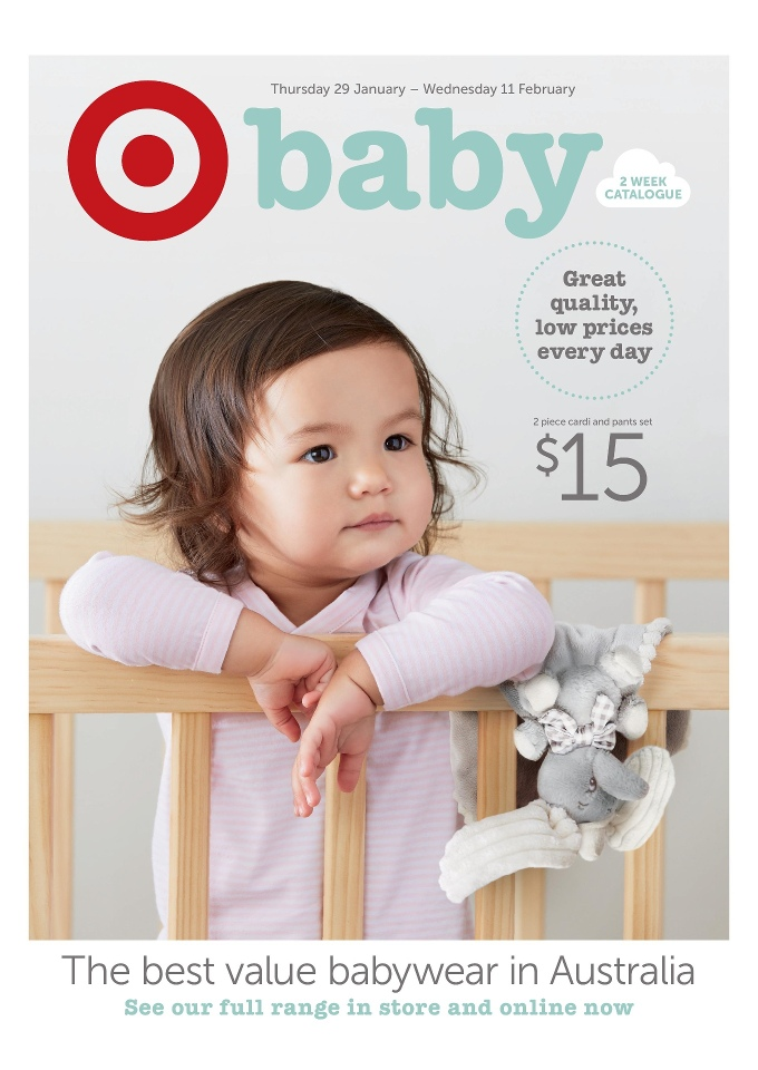 Target Baby Catalogue 2015 Nursery Items Baby Clothing