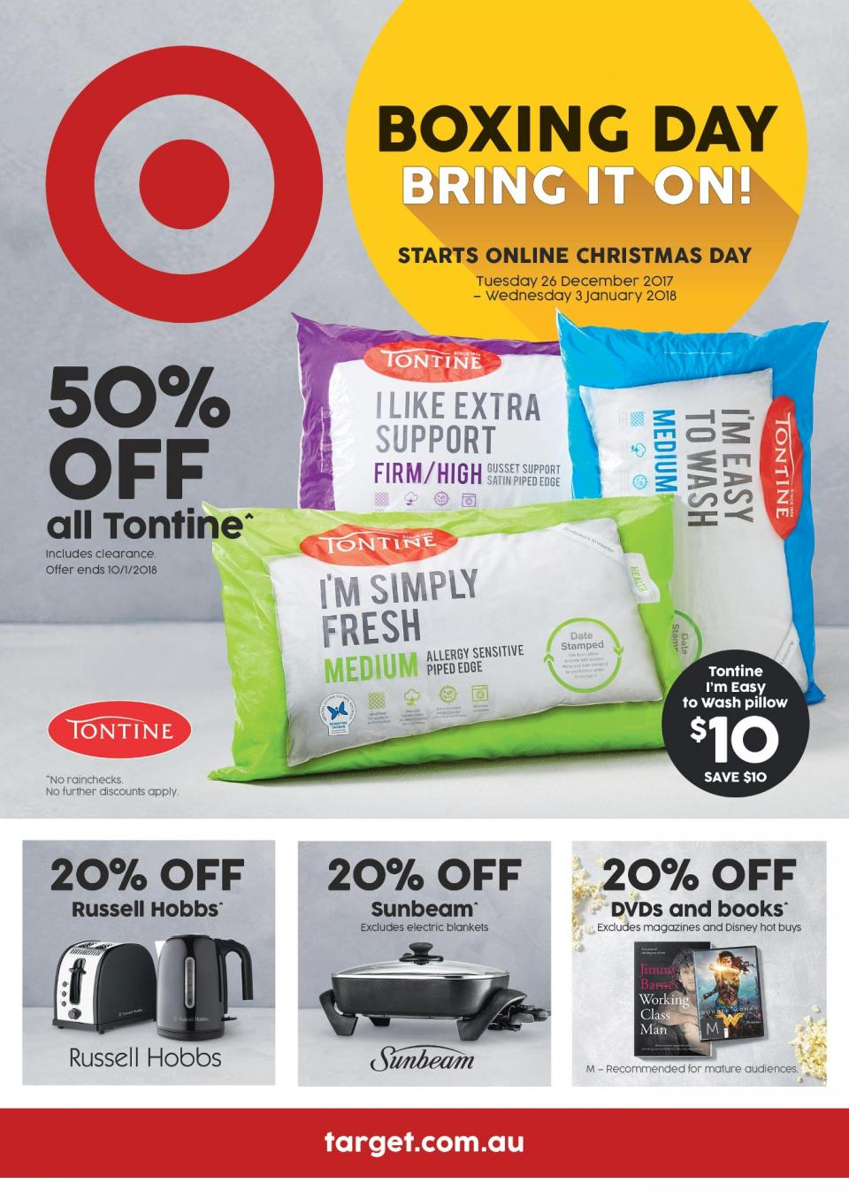 target catalogue boxing day 2017