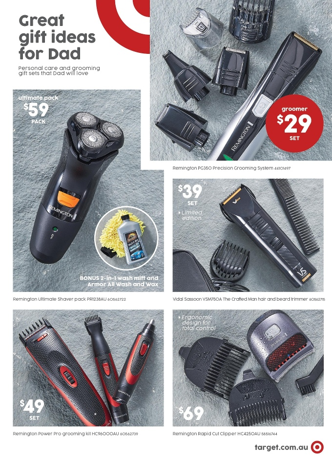 target catalogue fathers day 2017