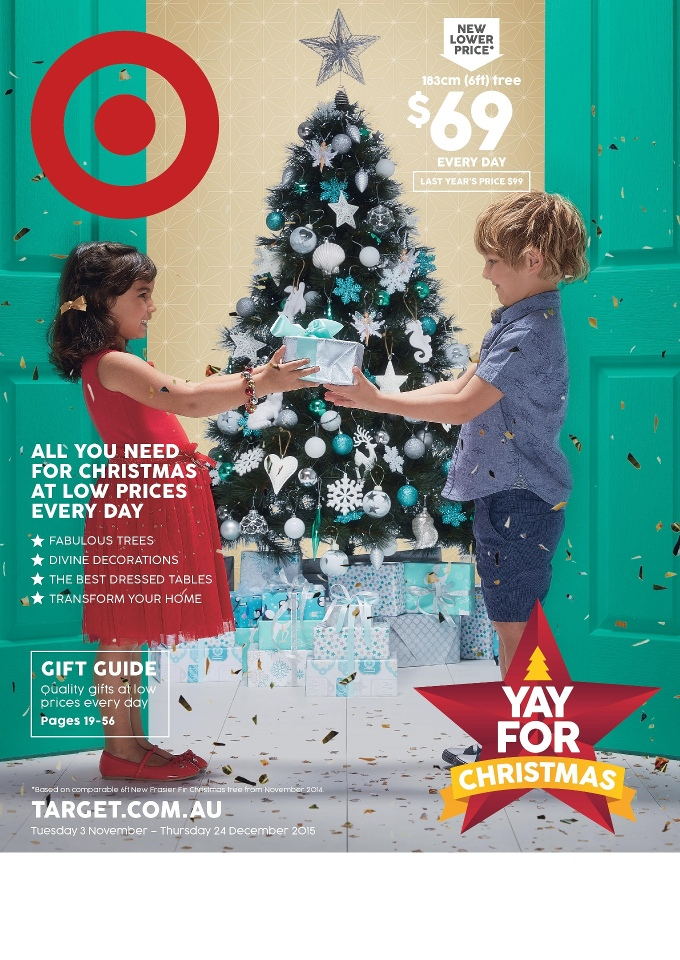 target christmas trees catalogue november 2015 - Target Christmas Decorations 2016