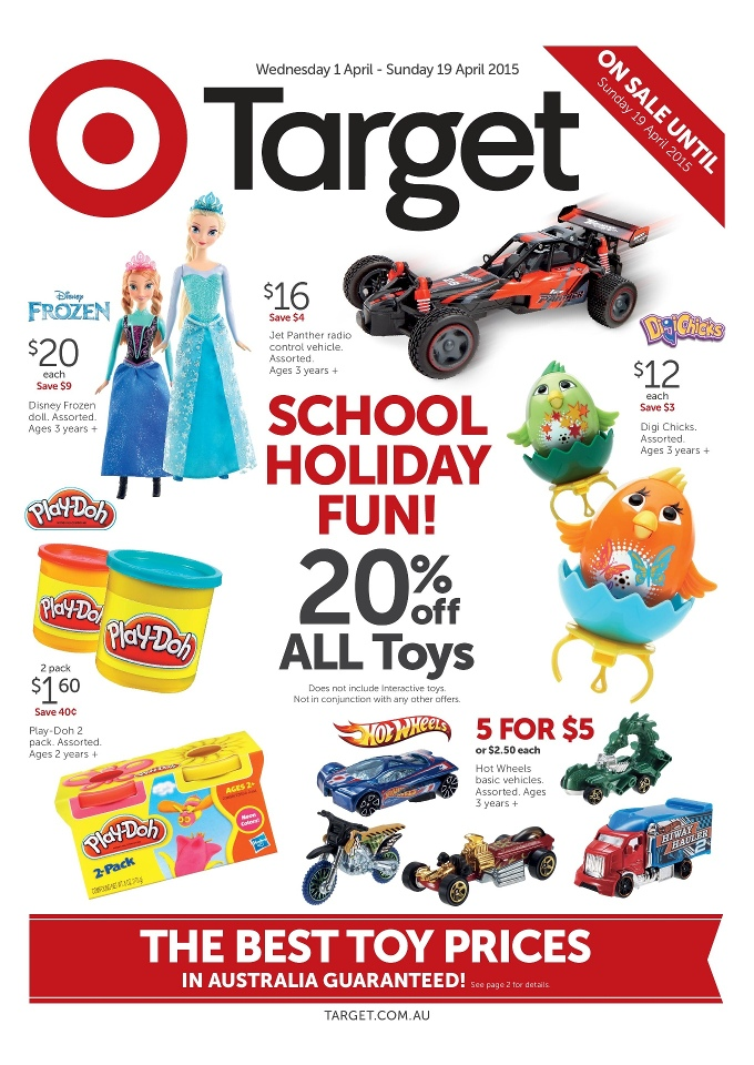 Target Toy Sale Australia : Target school holiday catalogue toy sale april