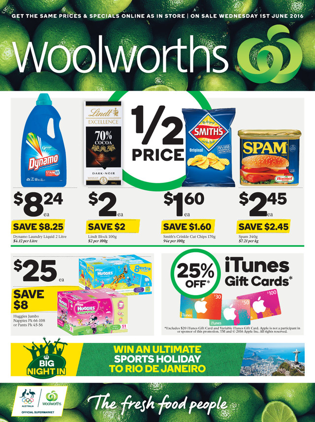 woolworths catalogue 1 june 2016