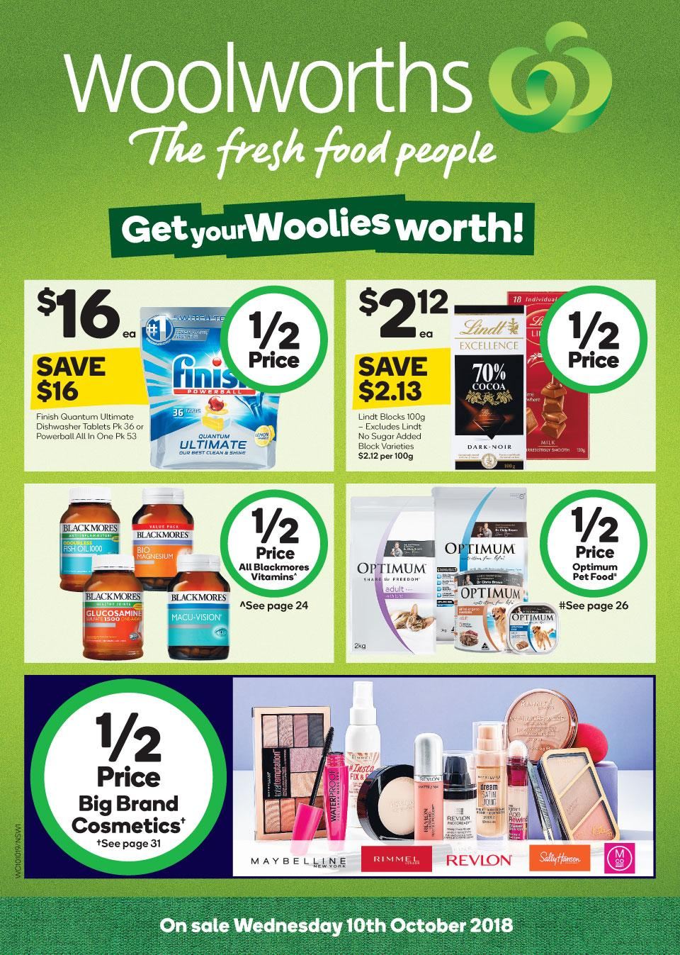 woolworths catalogue 10 oct 2018