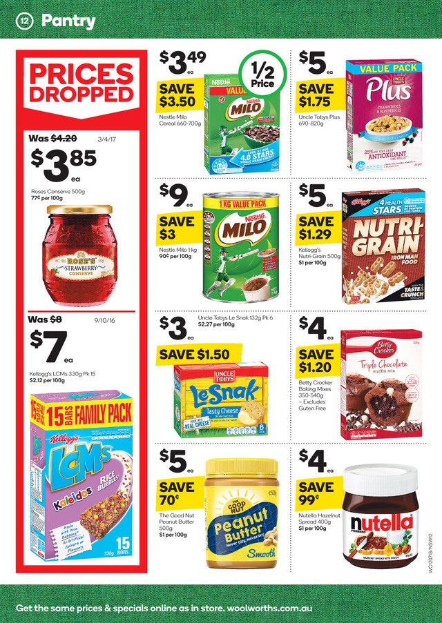 woolworths catalogue 12 july 2017