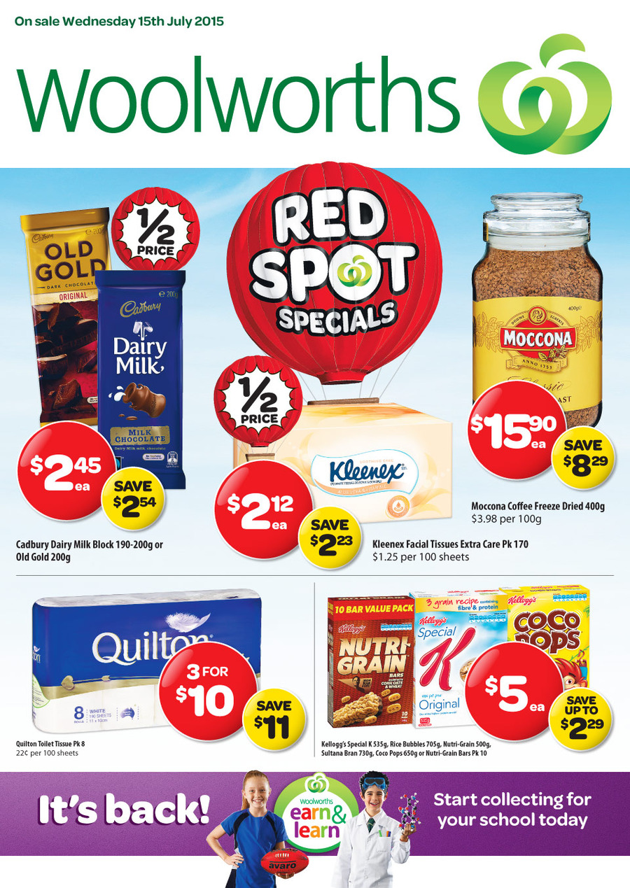 woolworths catalogue 15 jul 21 jul 2015