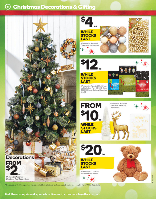 Woolworths Catalogue 16 - 22 November 2016 Christmas (Page 8)
