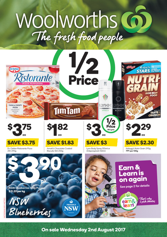 woolworths catalogue 2 august 2017