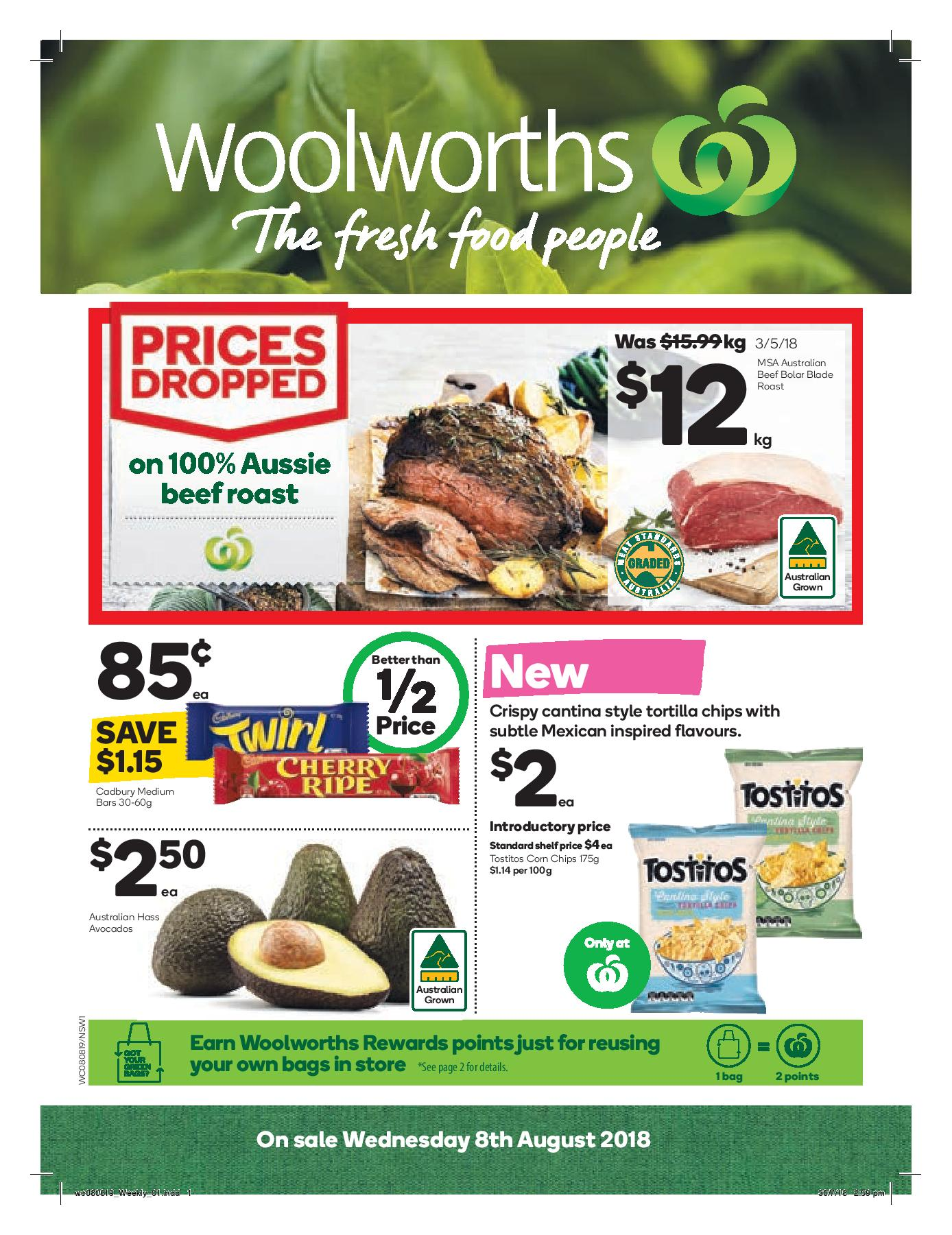woolworths catalogue 8 aug 2018
