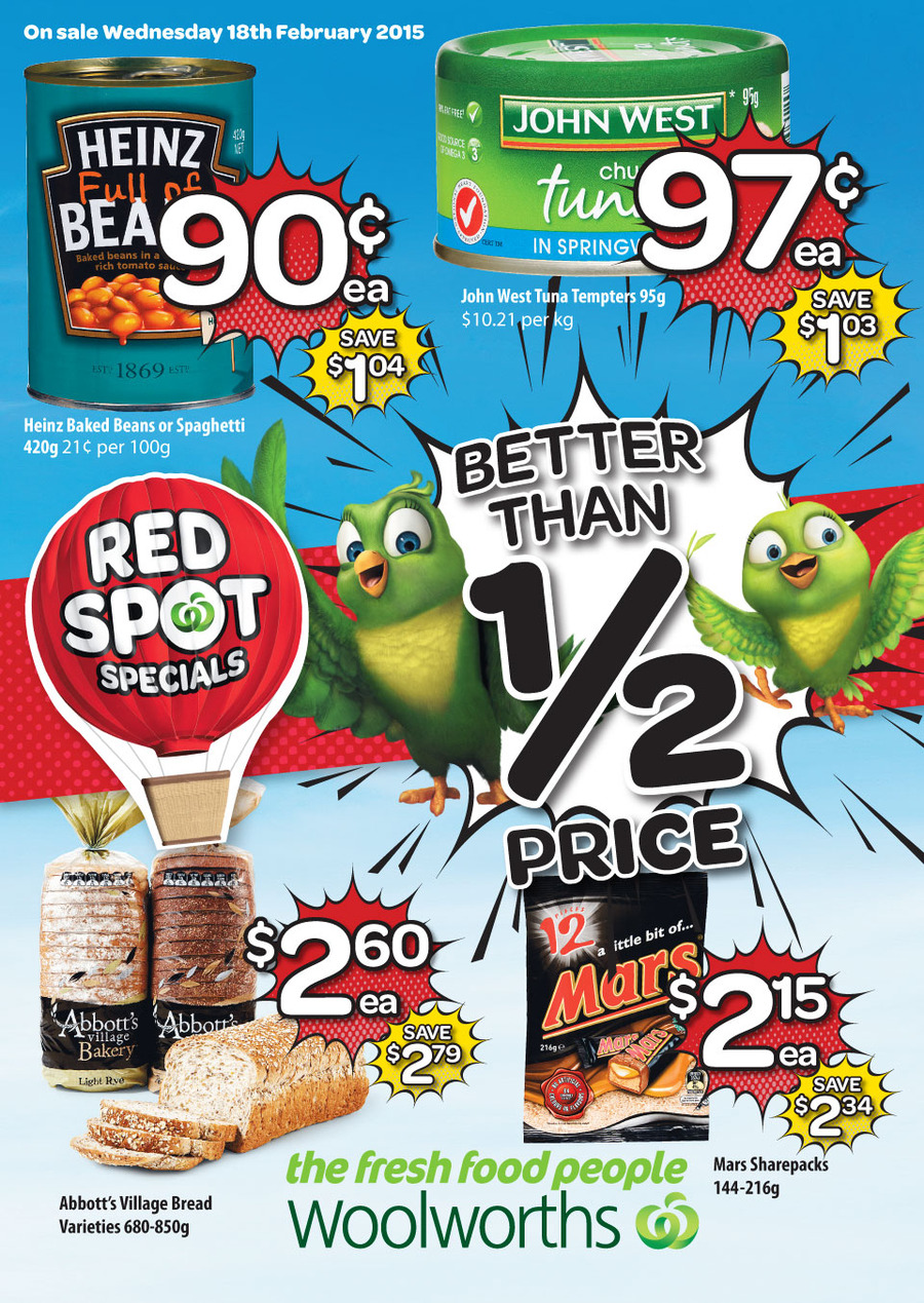 woolworths catalogue weekly specials february 2015