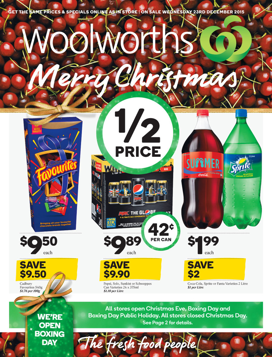 woolworths christmas catalogue dec 23 2015