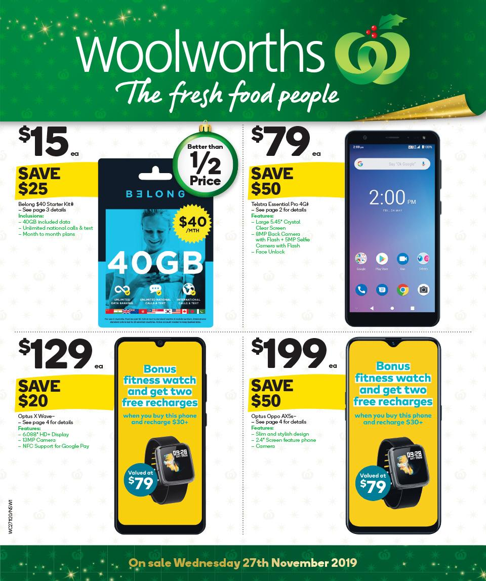 Woolworths Telco Catalogue Deals 27 Nov - 3 Dec 2019
